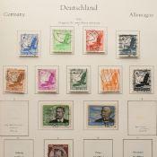 Sammlung Briefmarken III. Reich gestempelt, ab 1933 einschließlich Dienstmarken, dabei die erste A