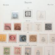 Sammlung Briefmarken Altdeutschland - Bayern gestempelt, schöner Sammlungsgrundstock, dabei u.a.: