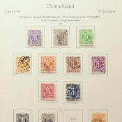 Konvolut Briefmarken Besatzungszonen, Bund und Westberlin überwiegend gestempelt, dazu div. postfr