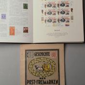 Konvolut Kataloge und Briefmarkenzubehör insg. wohl an die 30 Bücher und Broschur, Zubehörteile,
