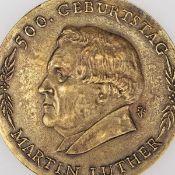 """Medaille """"500. Geburtstag Martin Luther"""" Bronze, Hersteller: Bronzegießerei Hans Füssel - Ingrid"""