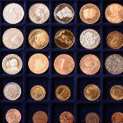 Konvolut Münzen und Medaillen insg. wohl an die 190 Stück, überwiegend deutsch, ungeprüft auf T