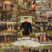 Paar Reservistenbilder je mit Darstellungen des Solldatenalltags, Kaiser Wilhelms II. und der Germa