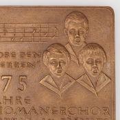"""Medaille """"775 Thomanerchor"""" Bronze, Hersteller: Bronzegießerei Hans Füssel - Ingrid Günzel/Berli"""