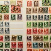 Konvolut Briefmarken Altdeutschland - III. Reich postfrisch (viel *) und gestempelt, dabei u.a.: Al