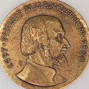 """Medaille """"Philipp Melanchthon"""" Bronze, Hersteller: Bronzegießerei Hans Füssel - Ingrid Günzel/Be"""