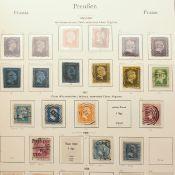 Sammlung Briefmarken Altdeutschland gestempelt, dabei: 1 x Norddeutscher Postbezirk mit Dienstmarke