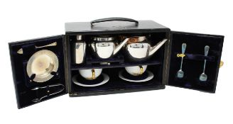 Vintage Asprey of London Traveling Tea Set