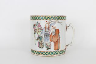 Qing, Signed Chinese Porcelain Calligraphy Cup