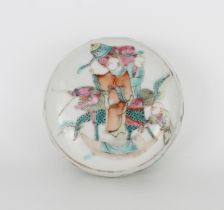 Qing, Chinese Famille Rose Porcelain Wax Seal Box
