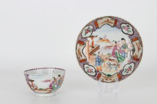 Antique Chinese Export Cup and Saucer