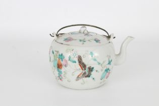 Qing, Chinese Famille Rose Butterfly Teapot