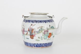 Chinese Qing Dynasty Famille Rose Teapot