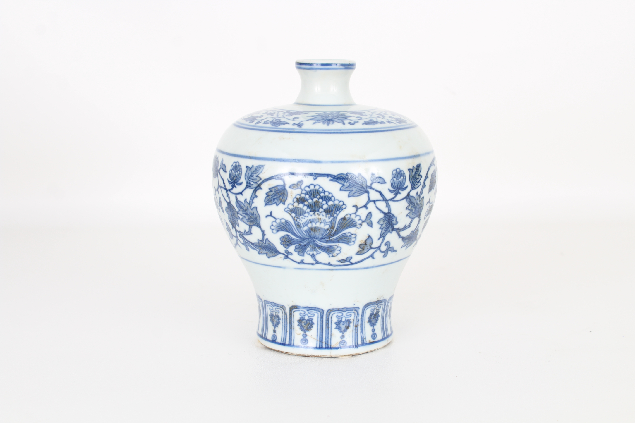 Marked, Chinese Blue and White Floral Vase - Image 2 of 5