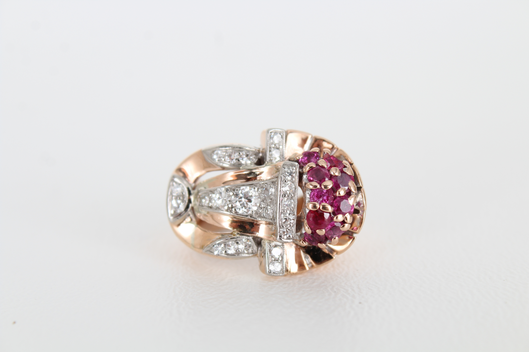 14K Ruby & Diamond Gold Ring - Image 2 of 7