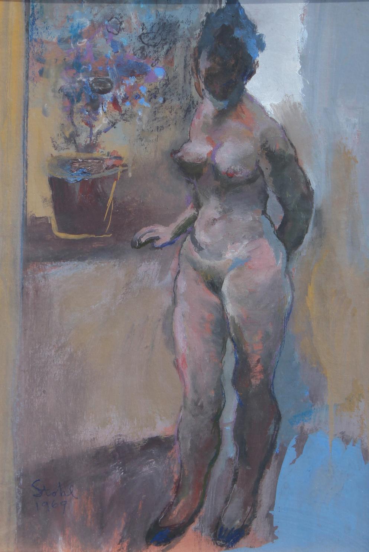 Benjamin Stahl (FL, 1910 - 1987) Nude - Image 2 of 3