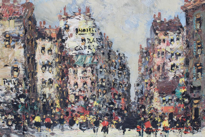 Simon Kramer (Born 1940) Parisian Street Scene - Image 3 of 5