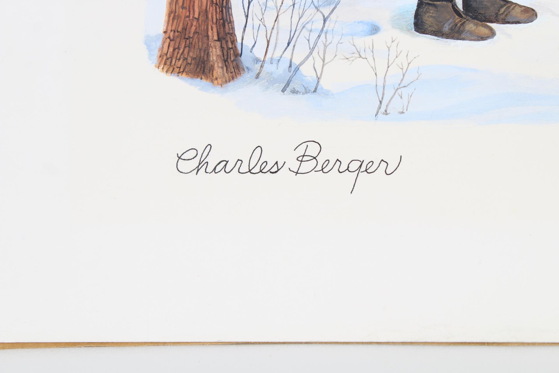 "Charles Berger (1922-2012) ""The Fir Tree"" Original - Image 3 of 4"