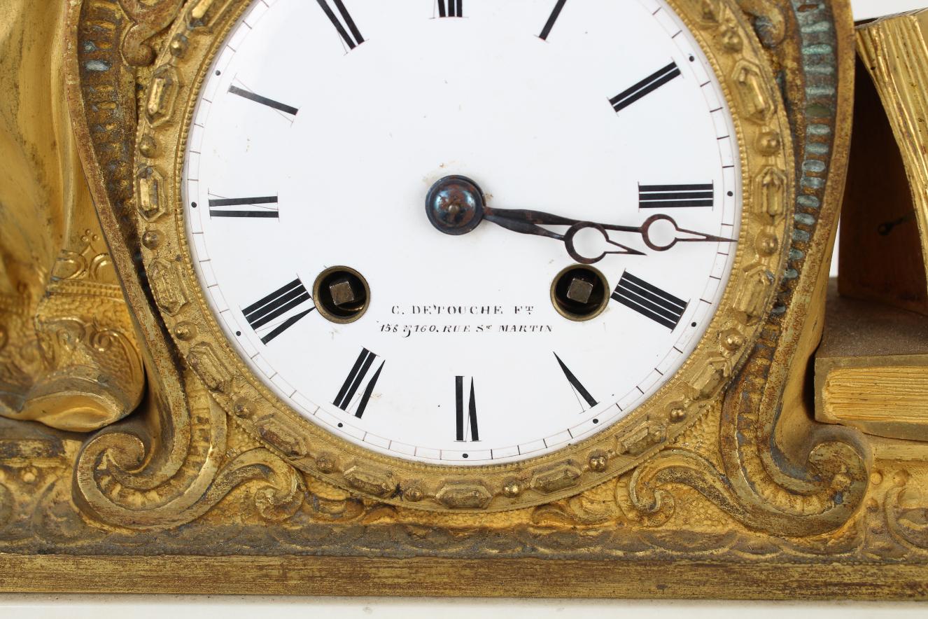 Antique Gilt Bronze French Mantel Clock - Image 4 of 5