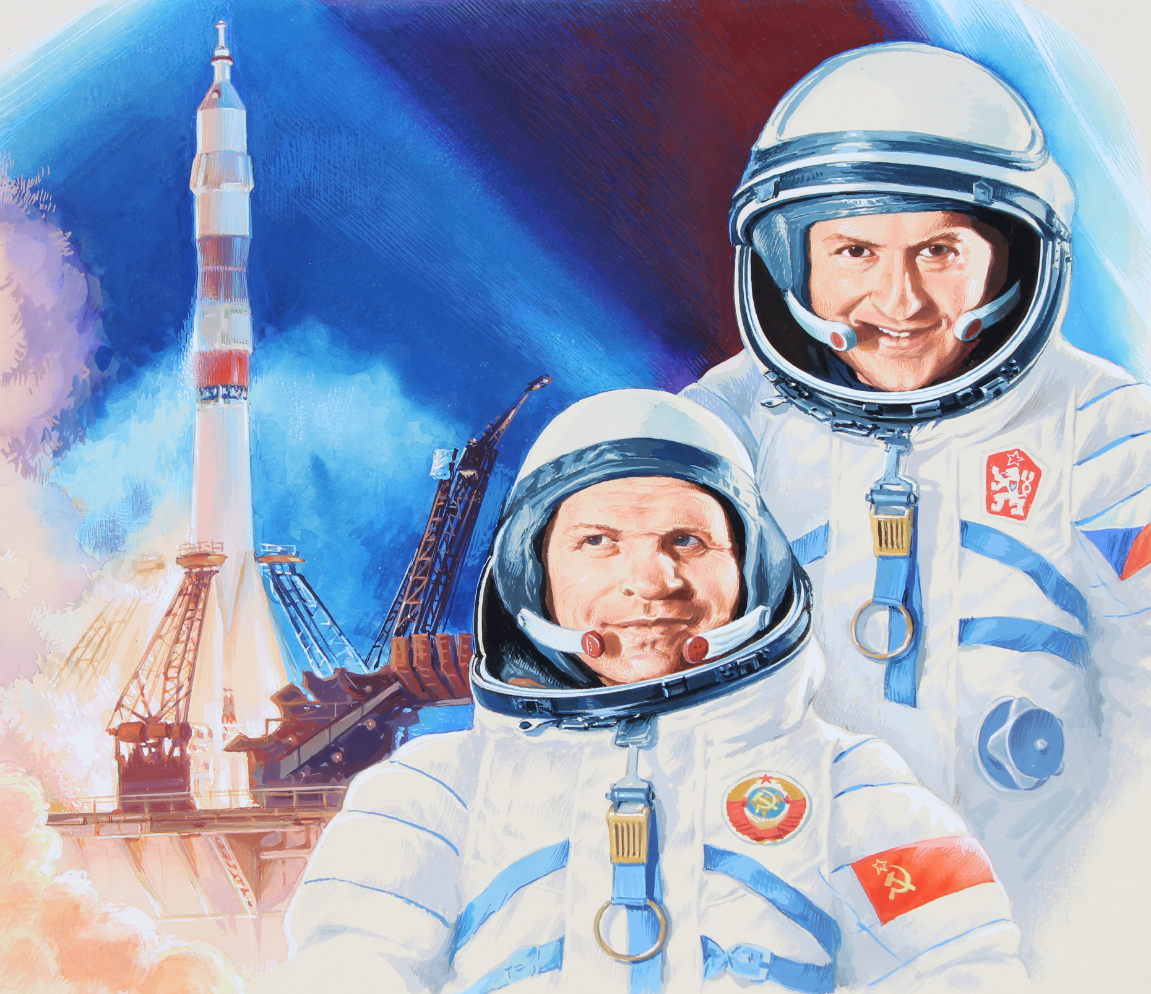 "Gherman Komlev (1933 - 2000) ""Astronauts"""