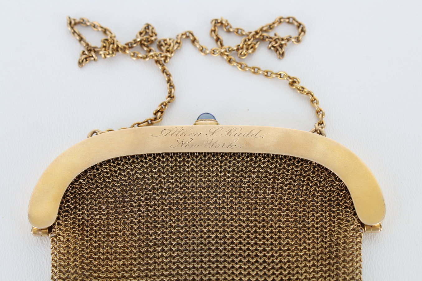 14K Gold Mesh Coin Purse w/ Diamond & Ruby Clasp - Image 5 of 6