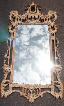 Chinese Chippendale Style Gilt Wall Mirror