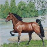 Peter Barrett (B. 1935) Tennessee Walker Horse
