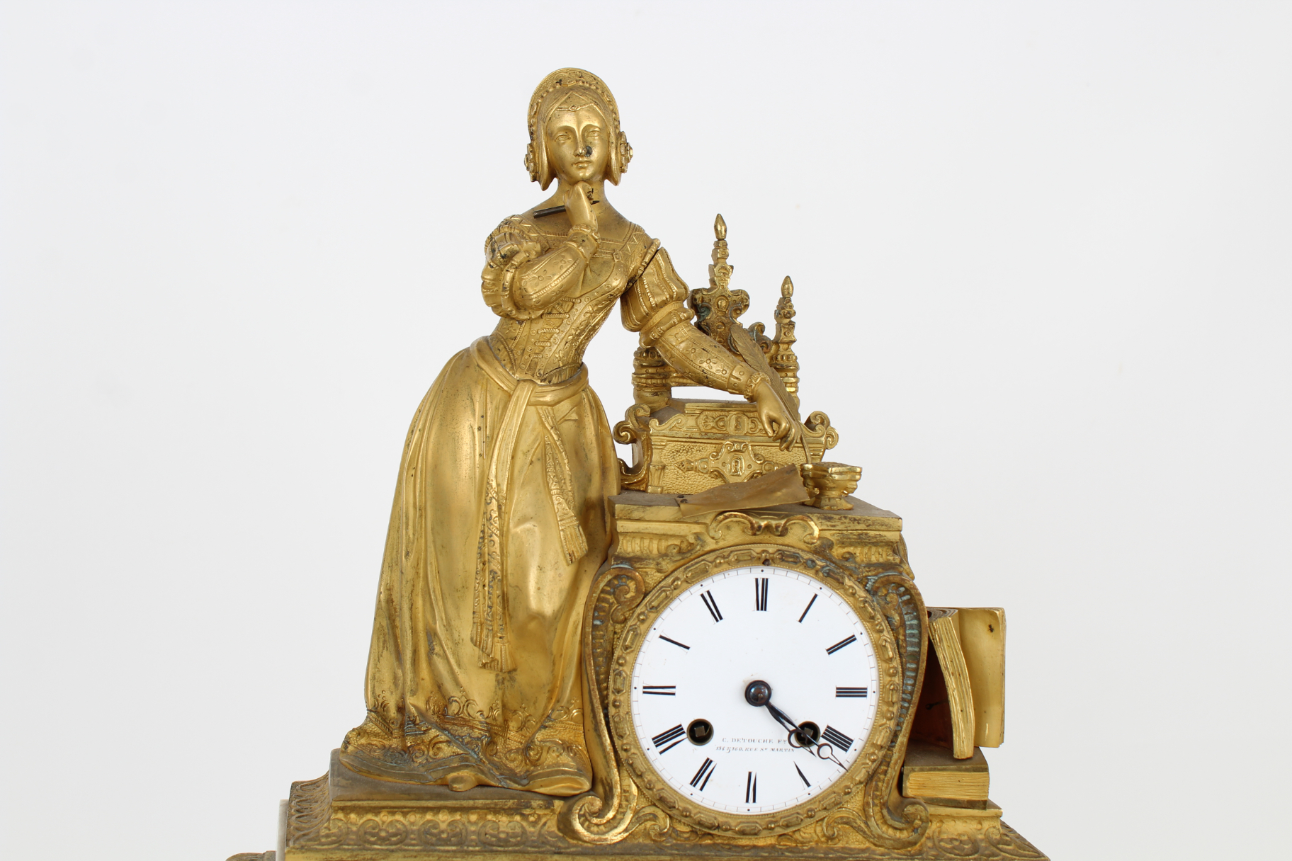 Antique Gilt Bronze French Mantel Clock - Image 3 of 5