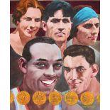 "Tom McNeely (B. 1935) ""Olympians Montage"" W/C"