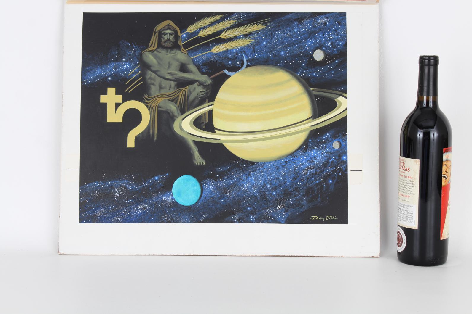 "Dean Ellis (1920-2009) ""Roman God Saturn"" Original - Image 2 of 4"