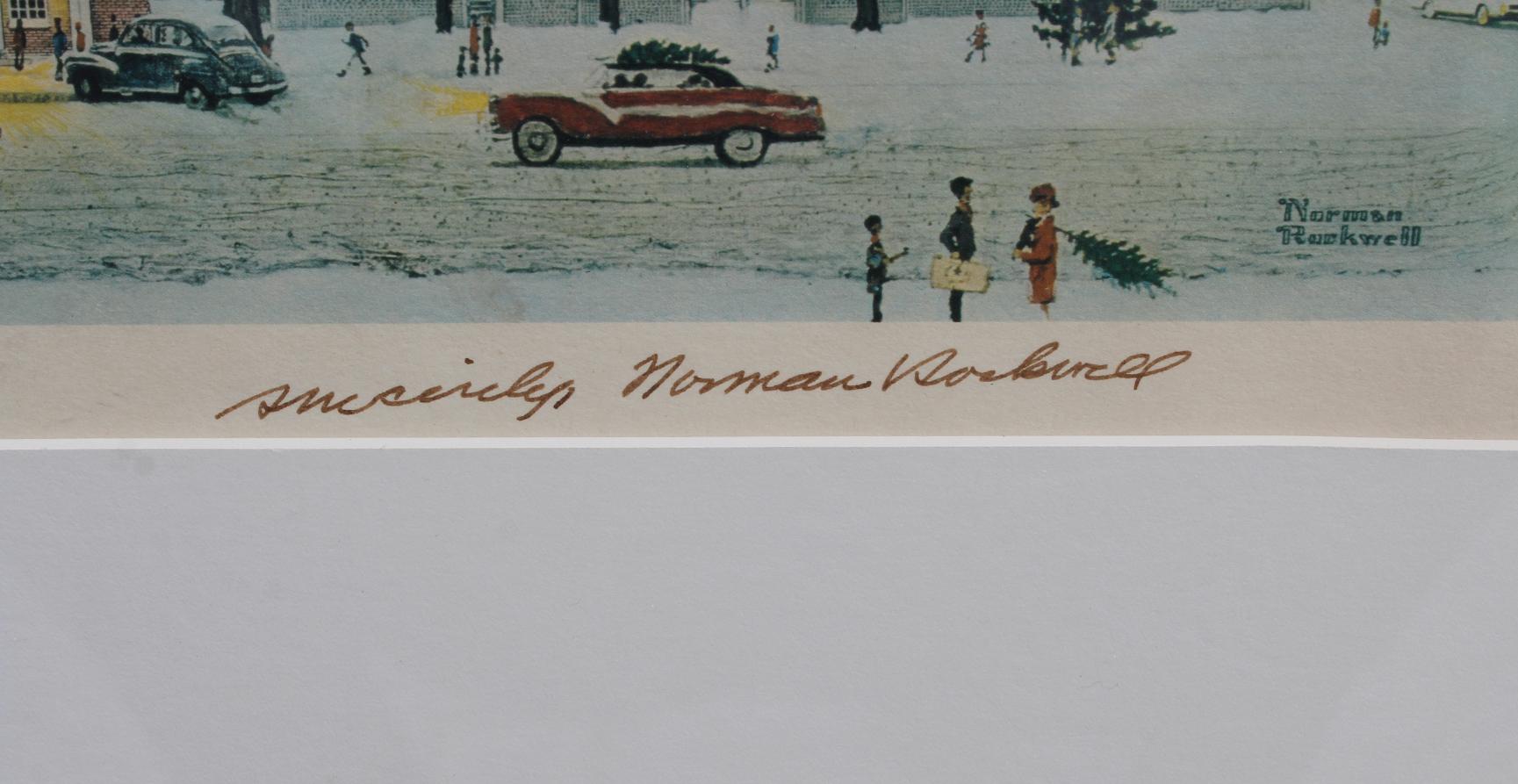 "Norman Rockwell ""Main Street Stockbridge 1967"" - Image 3 of 3"