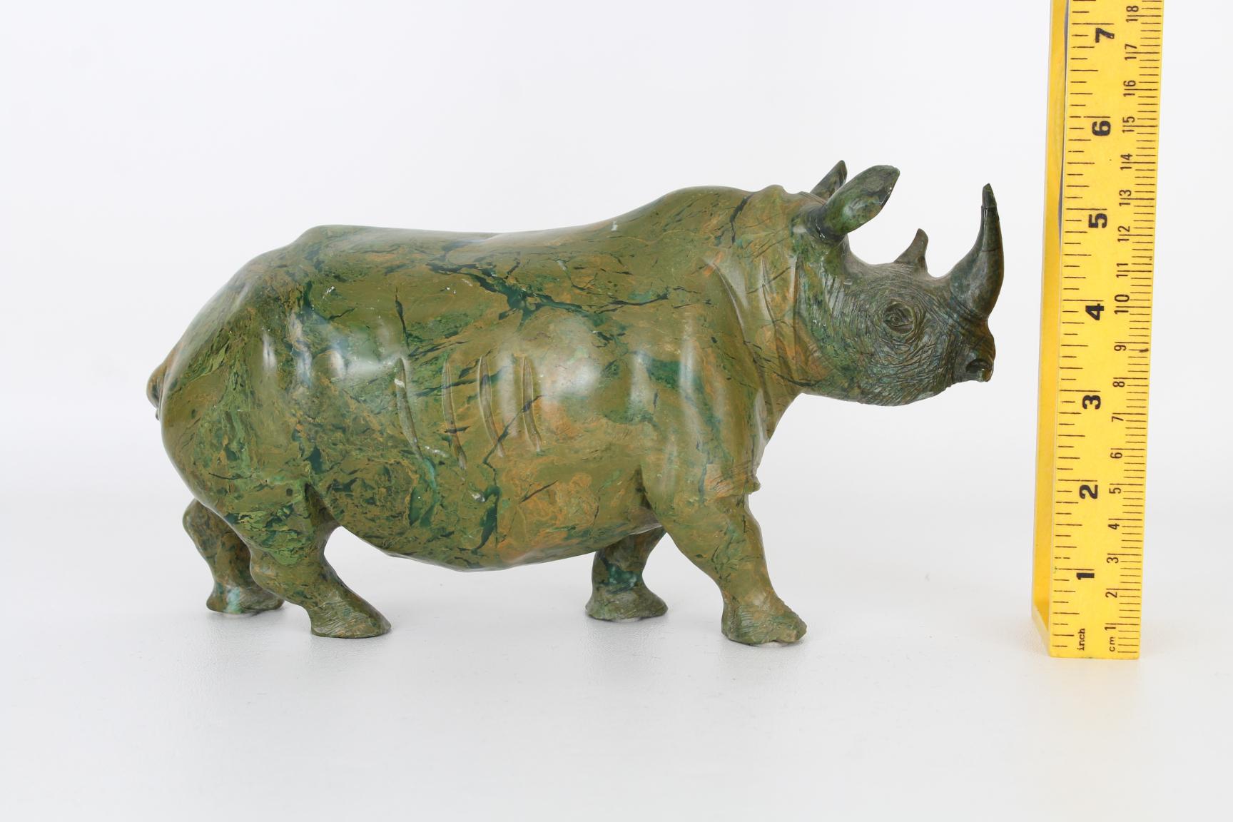 Vintage Carved Marble Rhinoceros - Image 5 of 5
