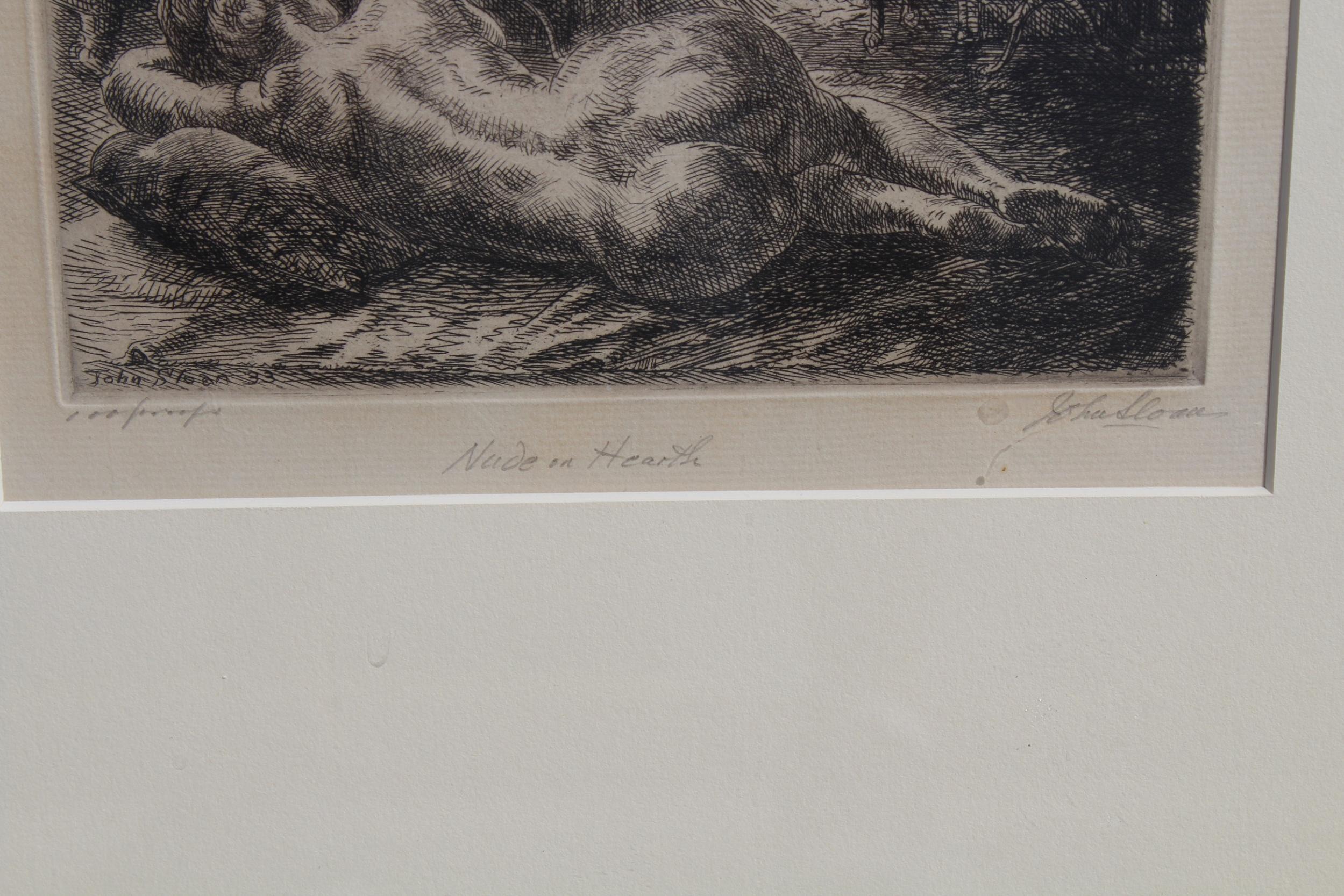 John Sloan (1871 - 1951) Nude Etching - Image 3 of 4