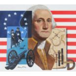 "Dean Ellis (1920 - 2009) ""George Washington"" Oil"