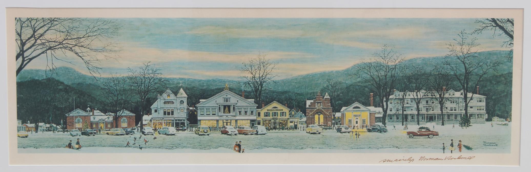 "Norman Rockwell ""Main Street Stockbridge 1967"" - Image 2 of 3"
