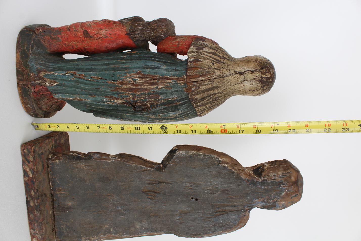 (2) Antique Carved Spanish Santos Figures - Image 4 of 4