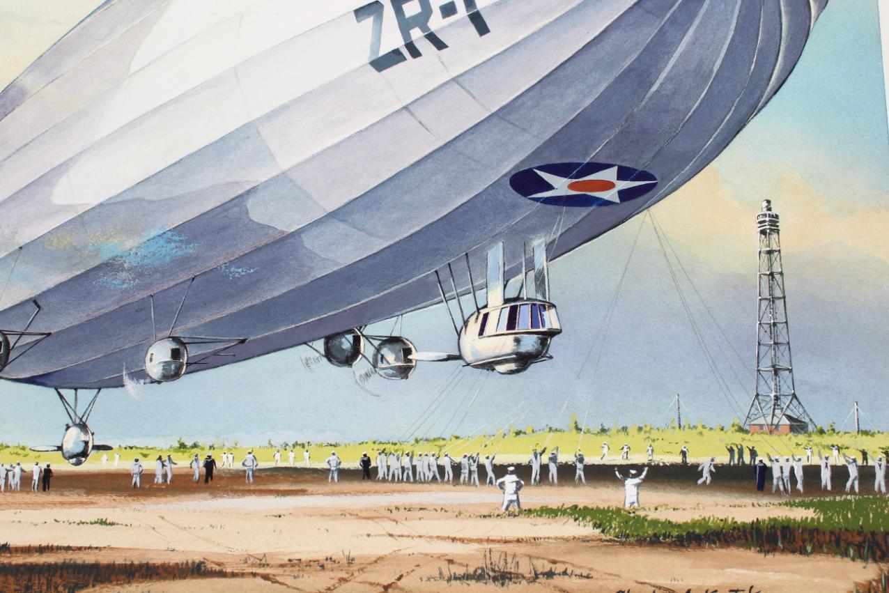 "Charles Knotek (1933 - 2008) ""US Airship"" - Image 3 of 6"