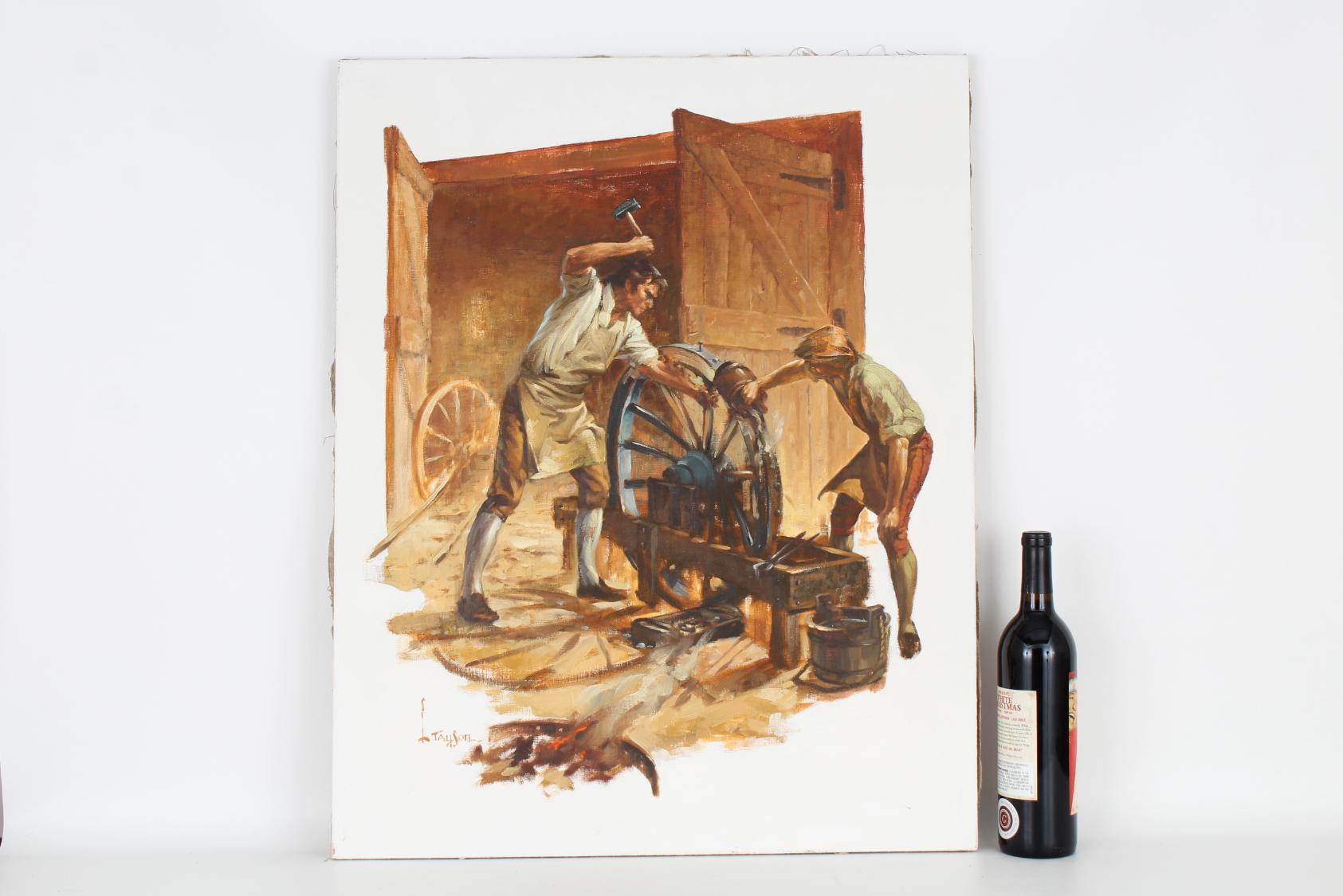 "Lyle Tayson (1924 - 2014) ""Wheelwright/Craftsmen"" - Image 2 of 5"
