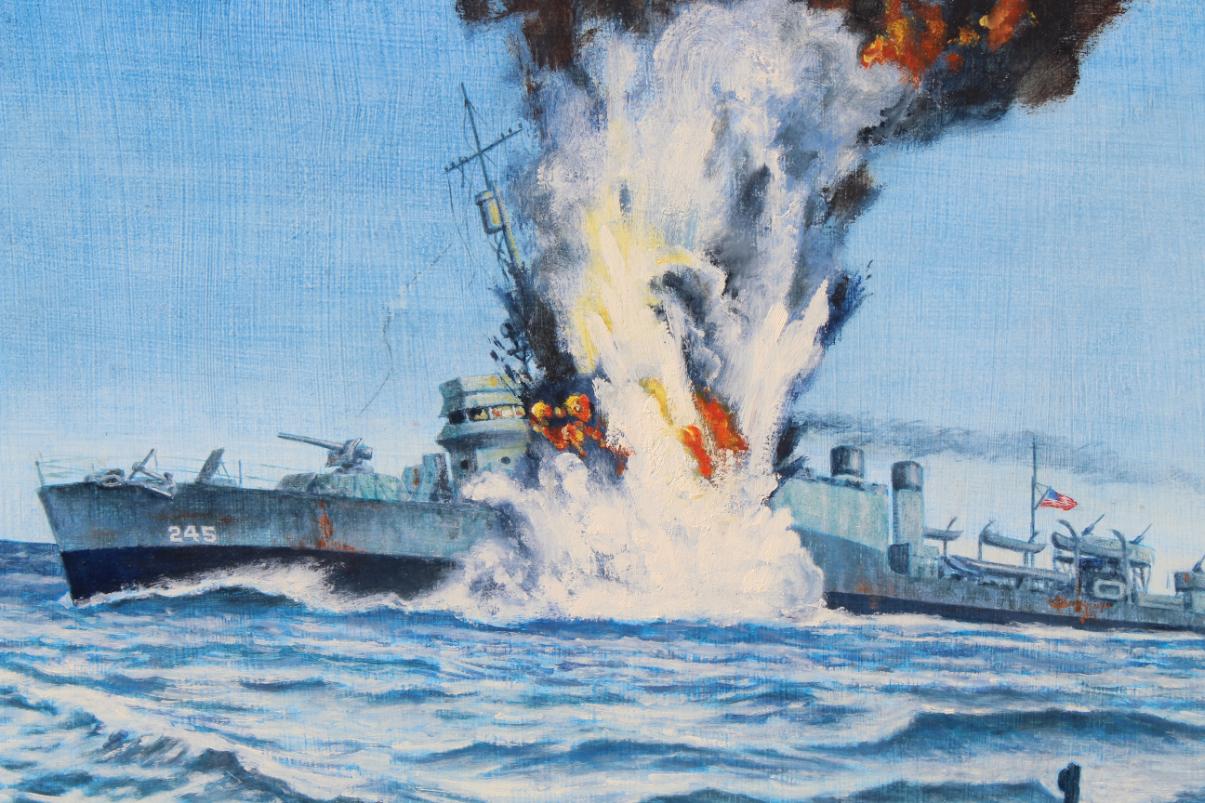 David K. Stone (1922 - 2001) USS Reuben James Sunk - Image 2 of 4