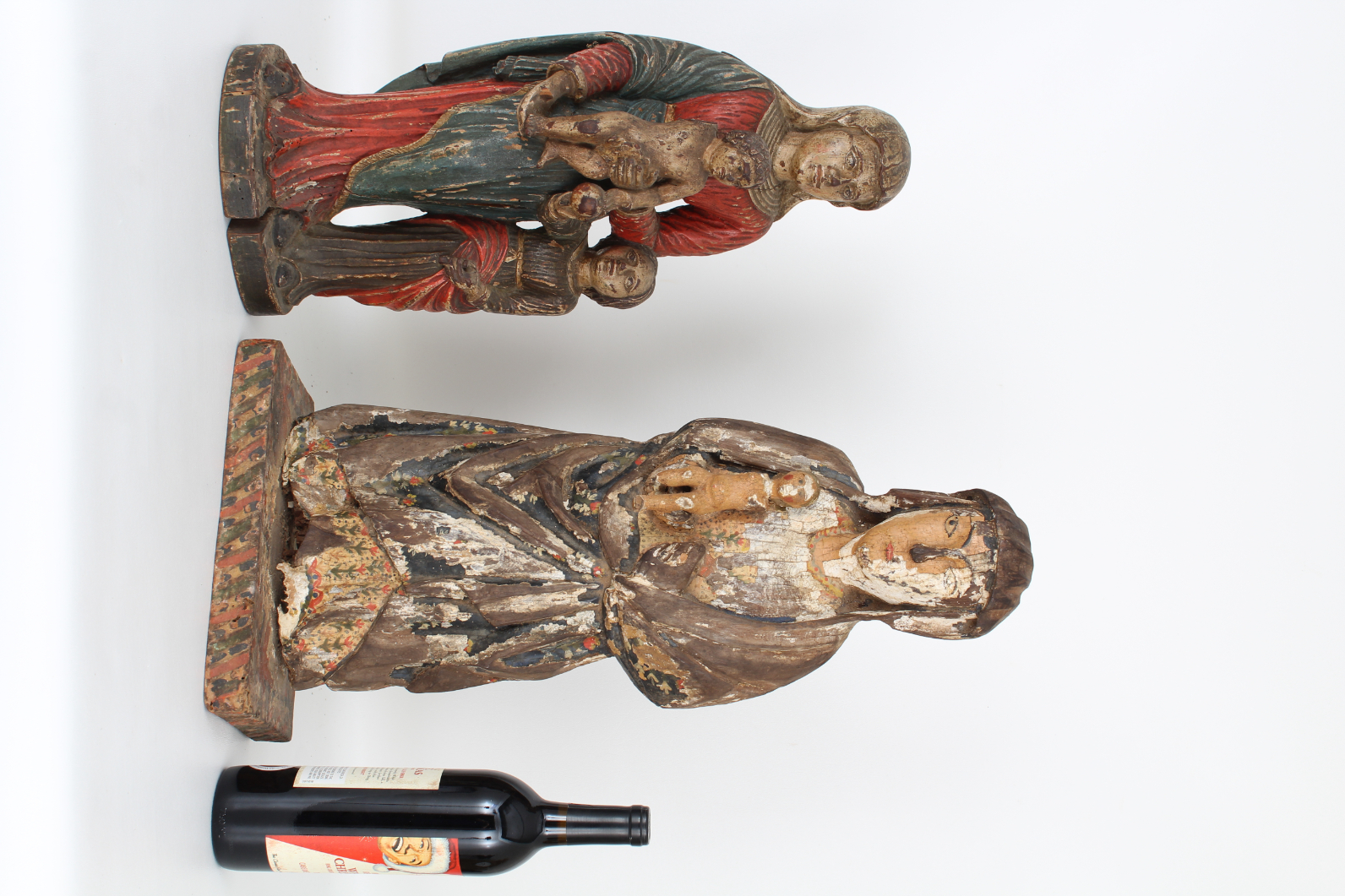 (2) Antique Carved Spanish Santos Figures - Image 2 of 4