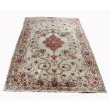 Signed, Antique Persian Silk Qum Rug