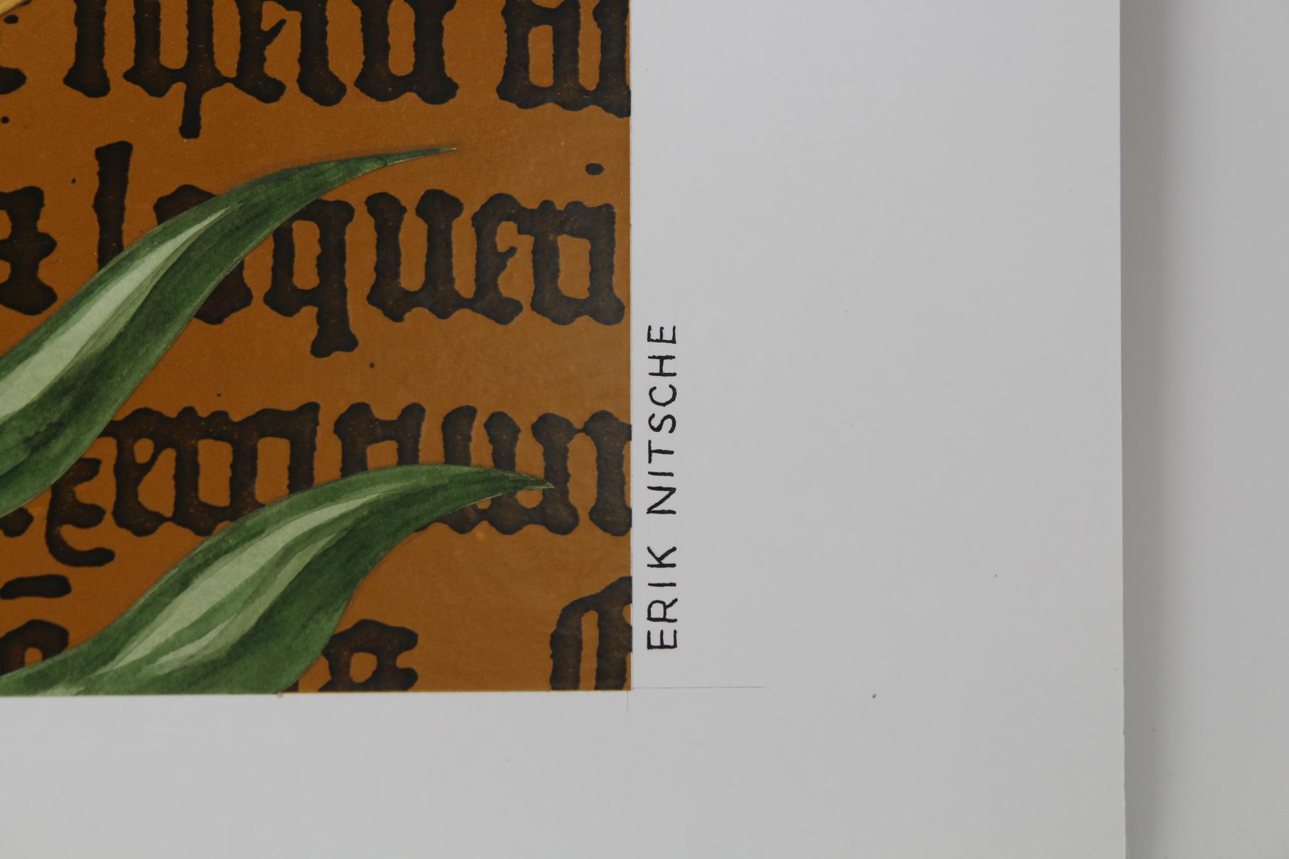 """Erik Nitsche (1908 - 1998) """"Lily"""" Original - Image 2 of 3"""