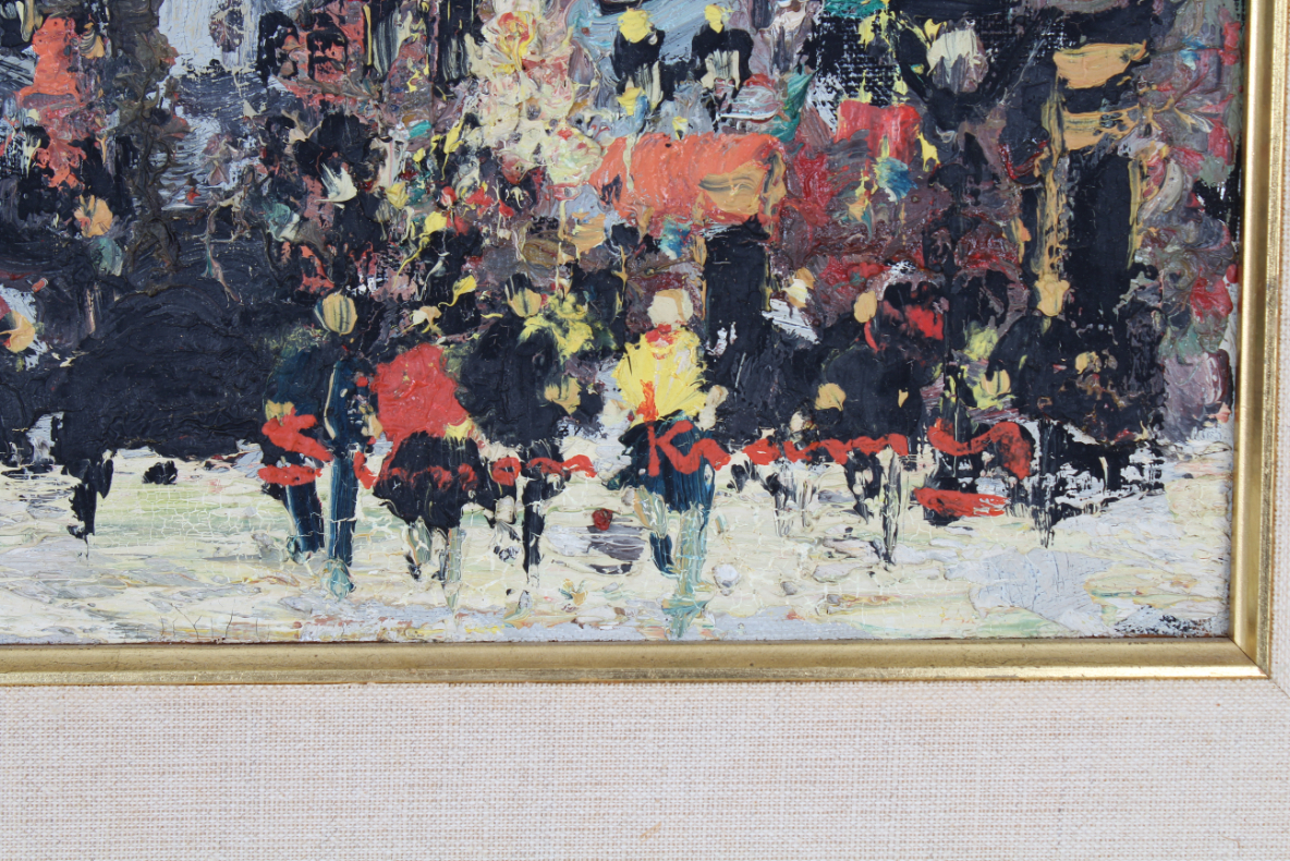 Simon Kramer (Born 1940) Parisian Street Scene - Image 4 of 5
