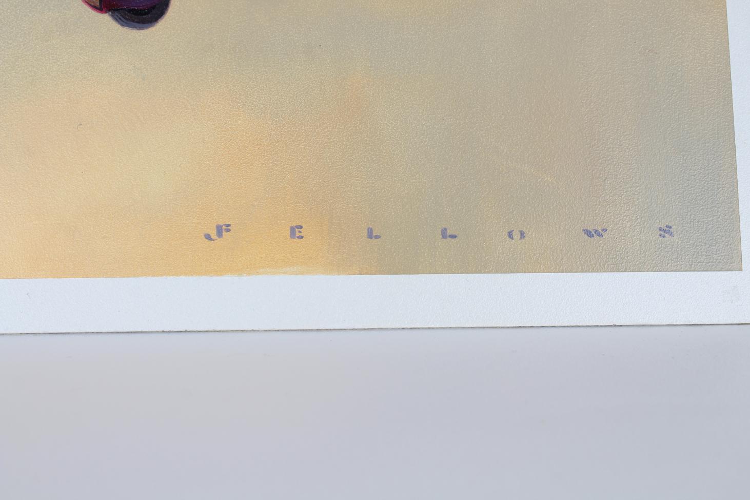 "Jack Fellows (B 1941) ""Lockheed Vega Airplane"" Oil - Image 4 of 5"
