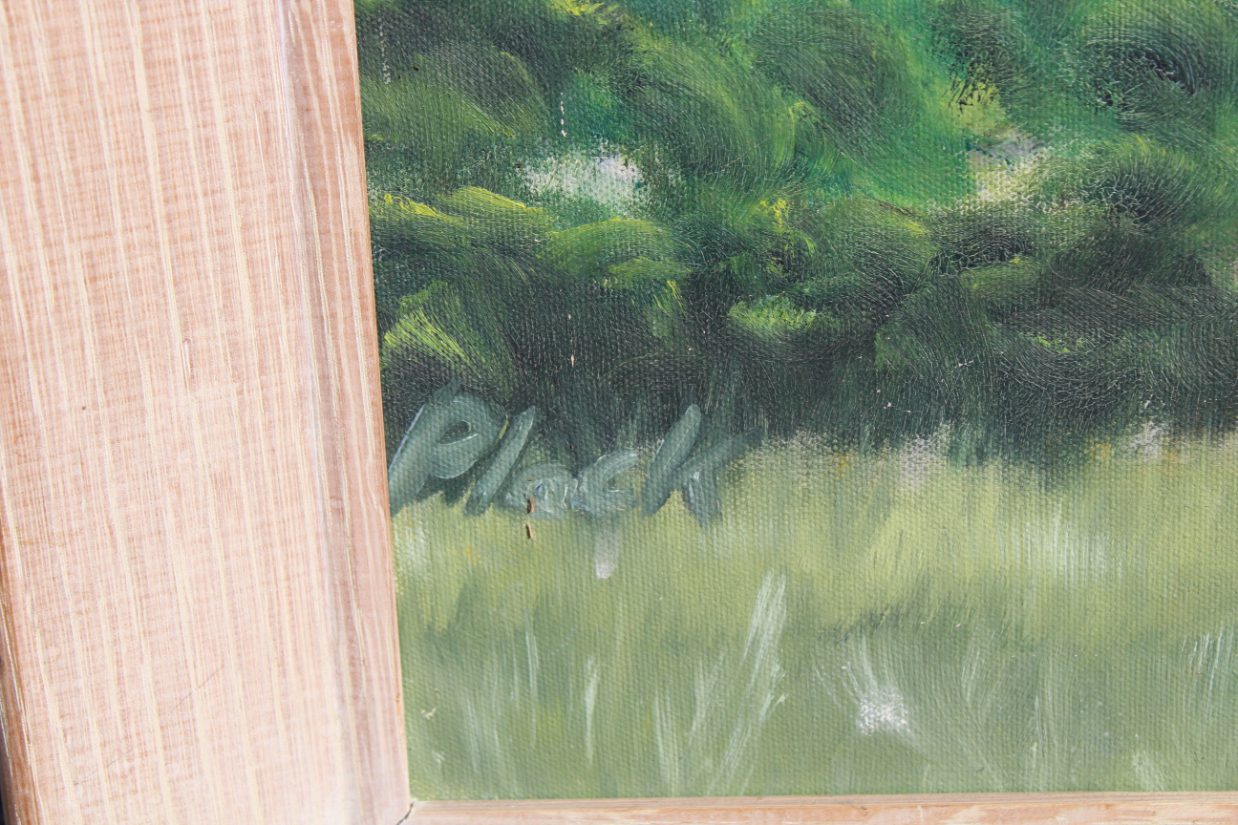 Signed, 20th C. Painting of a Monterey Cypress - Image 3 of 4