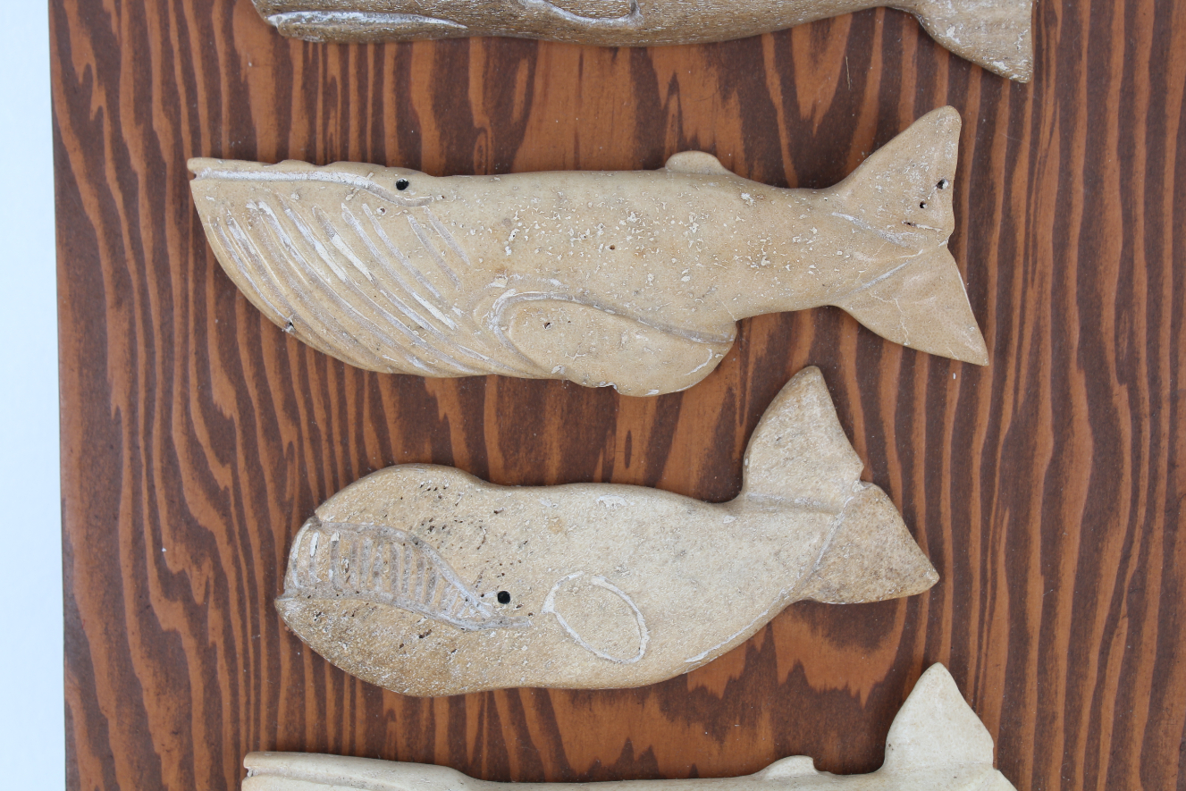 (6) Carved Stone Whale Figures - Image 3 of 4