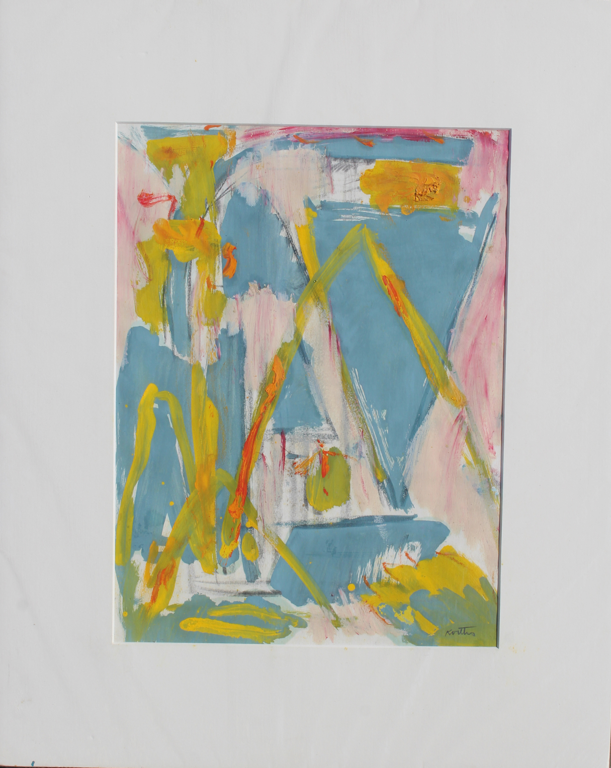 """Thomas Koether (NY, FL b. 1940) """"Plan for Caper"""" - Image 2 of 4"""