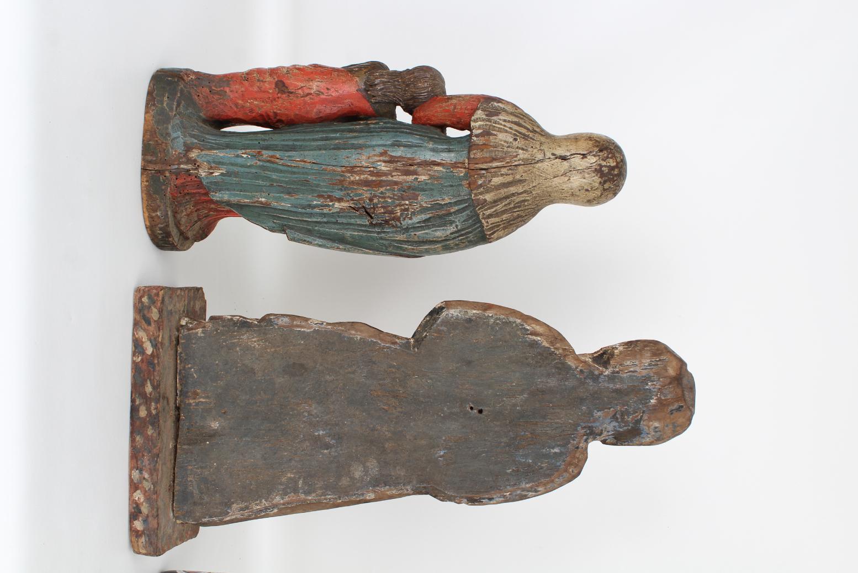 (2) Antique Carved Spanish Santos Figures - Image 3 of 4