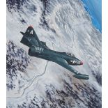 "Steve Ferguson (B. 1946) ""F9F-2B Panther"" Original"