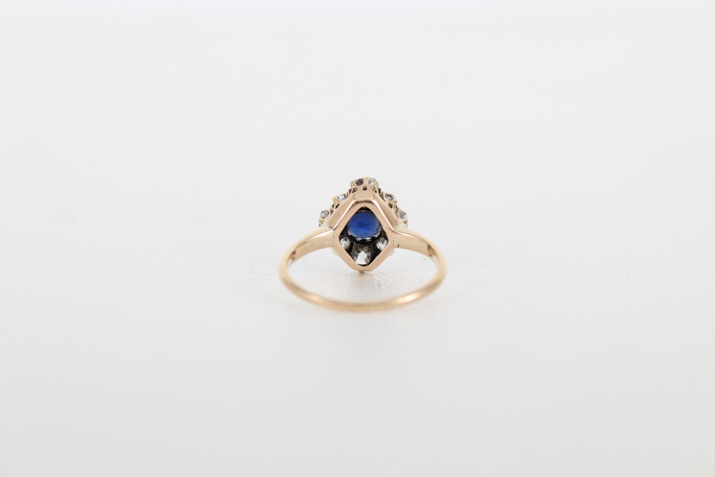 Sapphire & Diamond Petite Gold Ring - Image 4 of 6